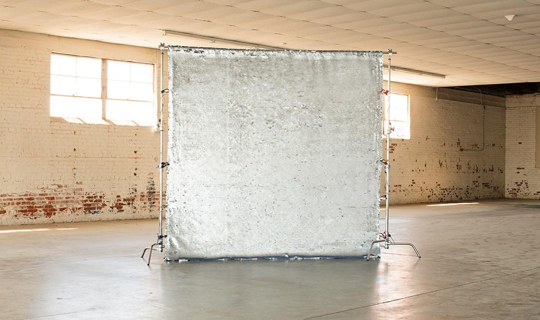 Fotobox Hintergrund Silver Sparkle