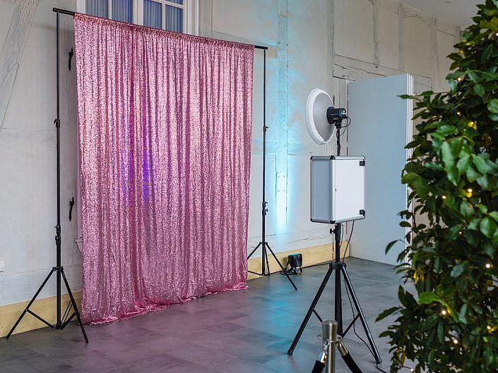 Rosa Hintergrund von Fotobox Fete - Thorsten Hennig Fotograf aus Paderborn